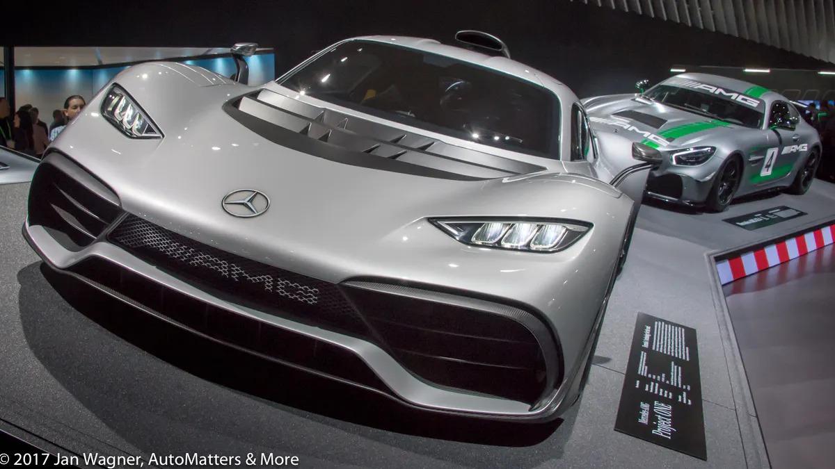 Mercedes-Benz muscle at the 2017 LA Auto Show's Press Days.