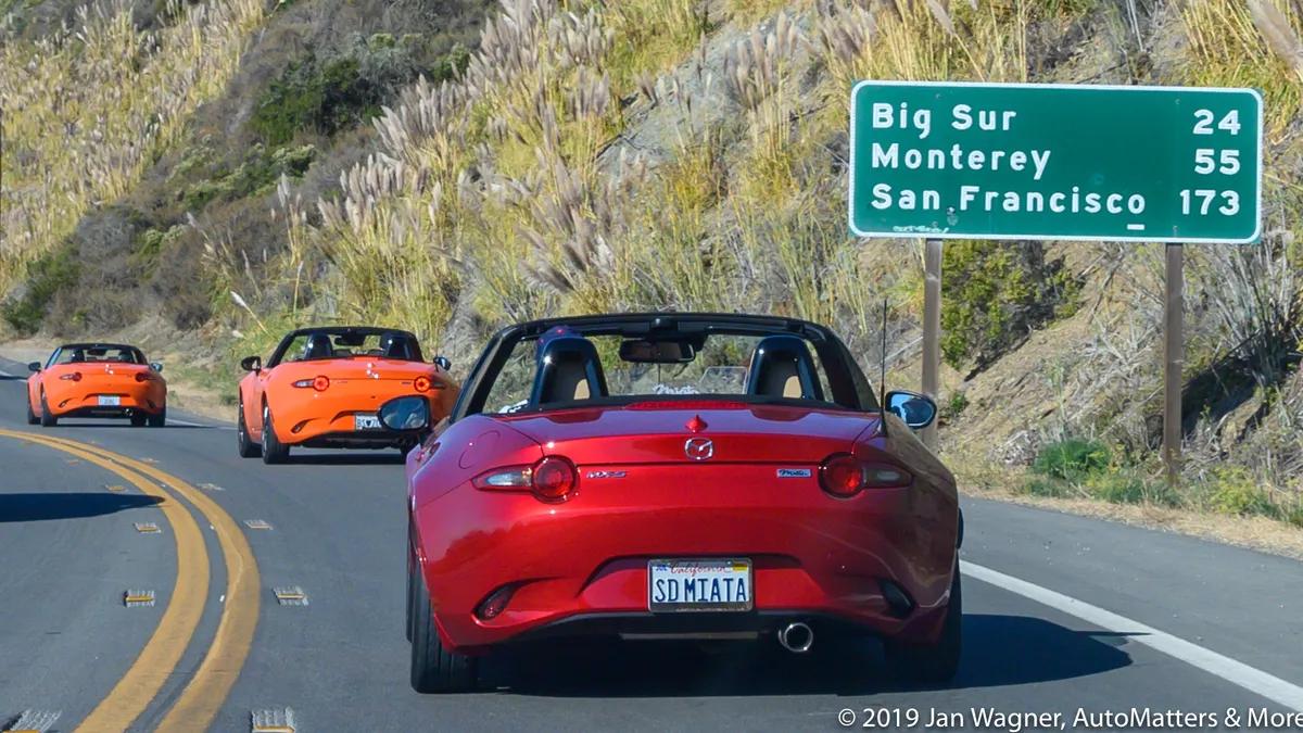On the road again with the San Diego Miata Club