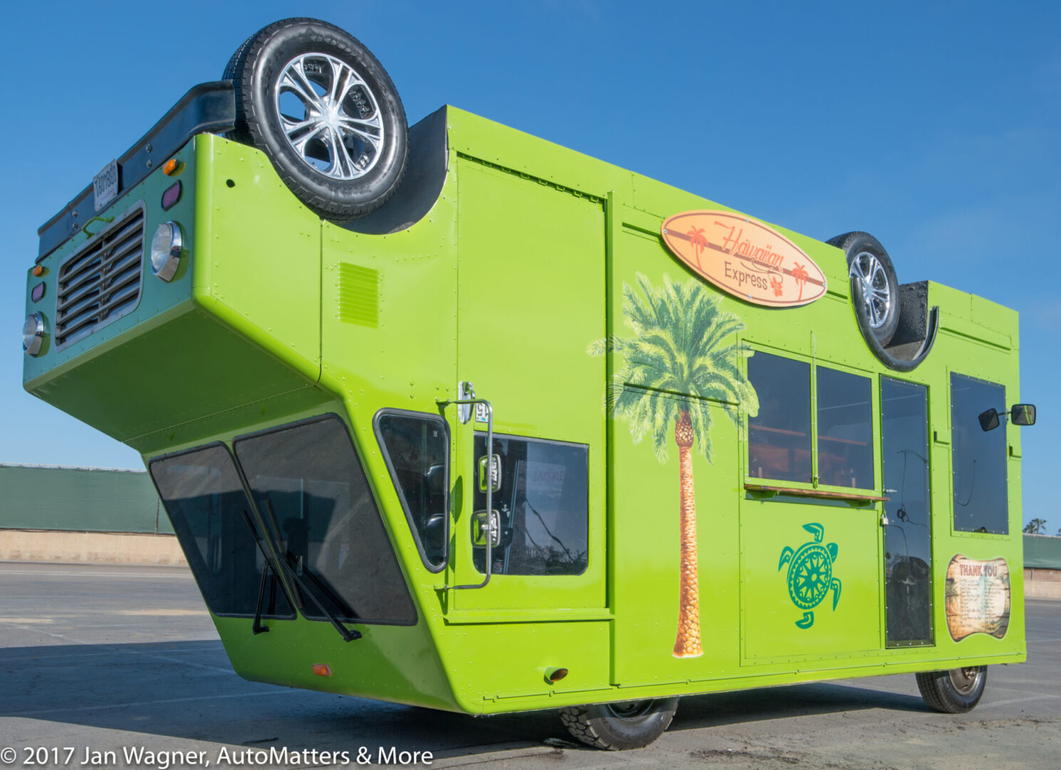 Hawaiian Express upside down food truck, in support of MADD. Conceived by Joe Wavra, CFO, The HVAC Exchange in Chula Vista, CA.